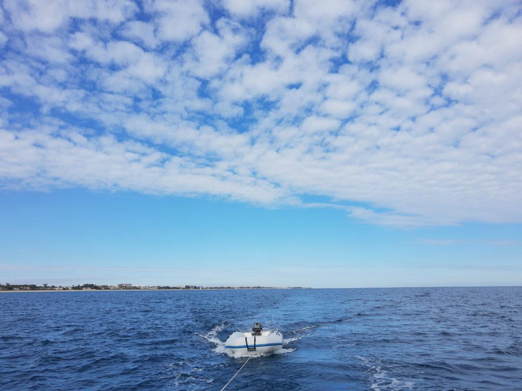 Dinghy and Blue Sky